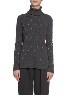 Marc Jacobs (Runway) Embroidered Wool-Cashmere Turtleneck Sweater