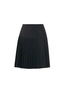 Marc Jacobs Runway Pleated wool-twill skirt