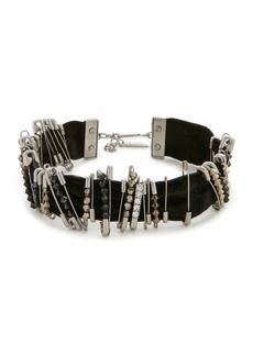 Marc Jacobs Safety Pin Velvet Choker Necklace