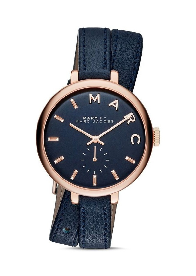 MARC JACOBS Sally Leather Strap Wrap Watch, 36mm - Bloomingdale's Exclusive