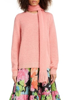 MARC JACOBS Scarf Neck Wool & Cashmere Sweater