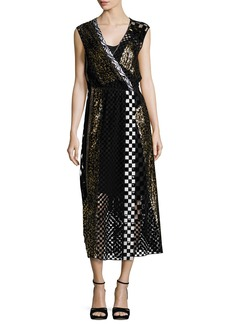 Marc Jacobs Sequined Animal-Print Midi Dress