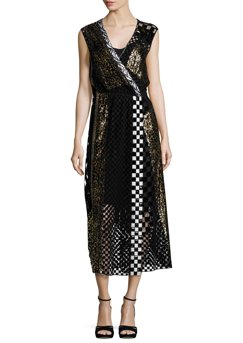 03e21257d64 On Sale today! Marc Jacobs Marc Jacobs Sequined Animal-Print Midi Dress