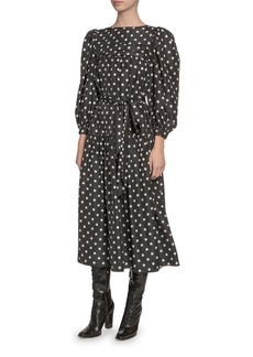 Marc Jacobs Silk Peasant-Sleeve Dress
