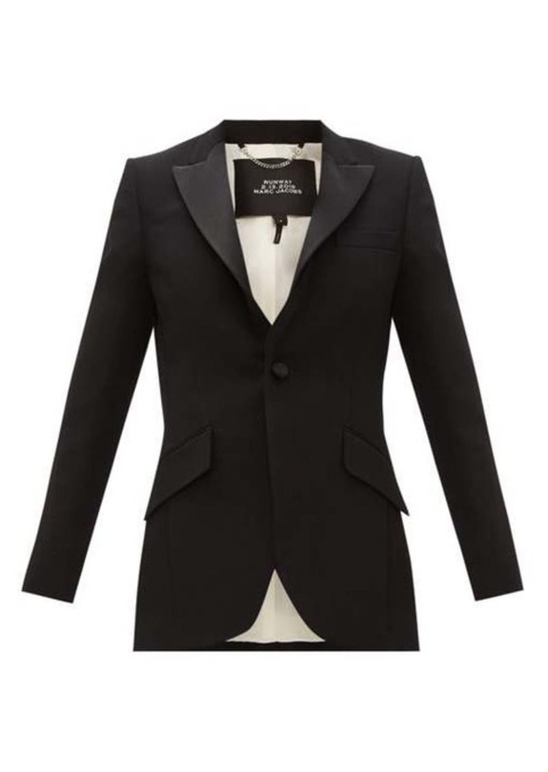 Marc Jacobs Single-breasted satin-trim wool tuxedo jacket
