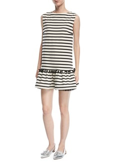 Marc Jacobs Sleeveless Striped Peplum Dress