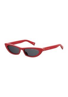 Marc Jacobs Slim Cat-Eye Acetate Sunglasses