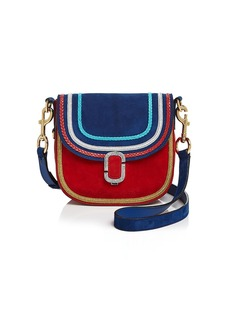 MARC JACOBS Small Suede Bicolor Shoulder Bag