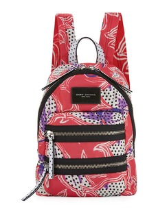 Marc Jacobs Spotted Lily Printed Biker Backpack