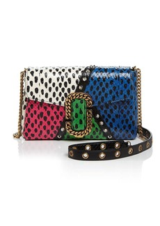 MARC JACOBS St. Marc Snake-Embossed Leather Clutch