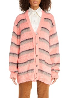 MARC JACOBS Stripe Brushed Silk Cardigan