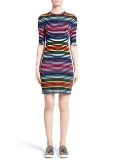 MARC JACOBS Stripe Cotton T-shirt Dress