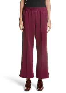 MARC JACOBS Stripe Jersey Crop Track Pants