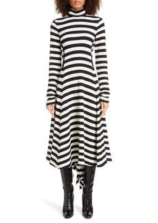 MARC JACOBS Stripe Long Sleeve Midi Sweater Dress
