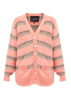 Marc Jacobs Striped silk cardigan