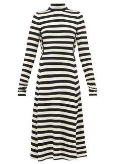 Marc Jacobs Runway Striped wool-blend knit midi dress