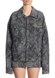 Marc Jacobs Studded Oversized Lace Cotton Jacket