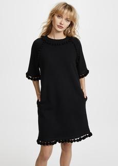 Marc Jacobs Sweatshirt Dress with Pom Poms