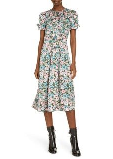 MARC JACOBS The 40s Floral Print Silk Midi Dress