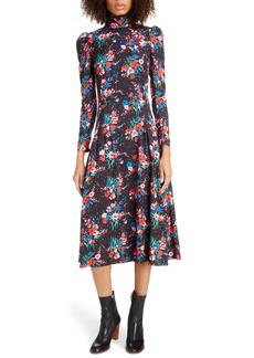 THE MARC JACOBS The 40s Long Sleeve Midi Dress