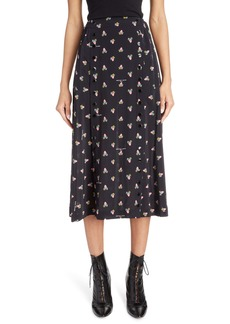 THE MARC JACOBS The Button Up Midi Skirt