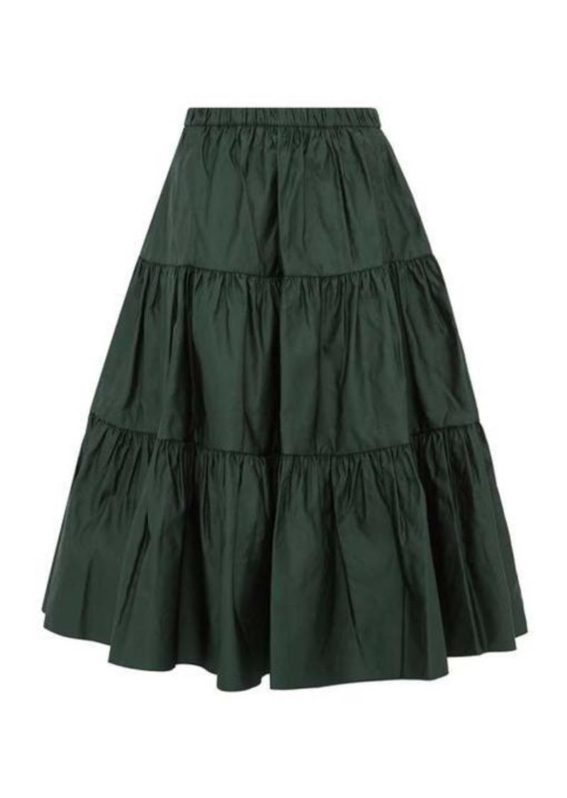 Marc Jacobs Tiered duchess satin skirt