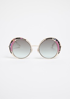 Marc Jacobs Top Frame Round Sunglasses