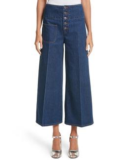 MARC JACOBS Wide Leg Crop Jeans