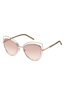 Marc Jacobs Wire-Rim Mirrored Cat-Eye Sunglasses