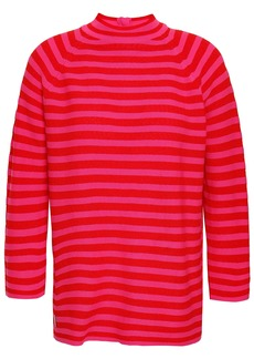 Marc Jacobs Woman Striped Cotton-blend Sweater Red