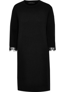 Marc Jacobs Woman Bead-embellished Wool And Cashmere-blend Mini Dress Black