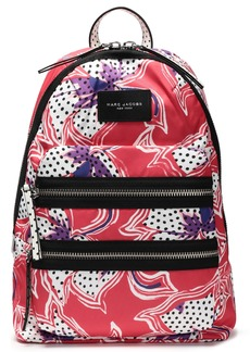 Marc Jacobs Woman Biker Floral-print Shell Backpack Papaya
