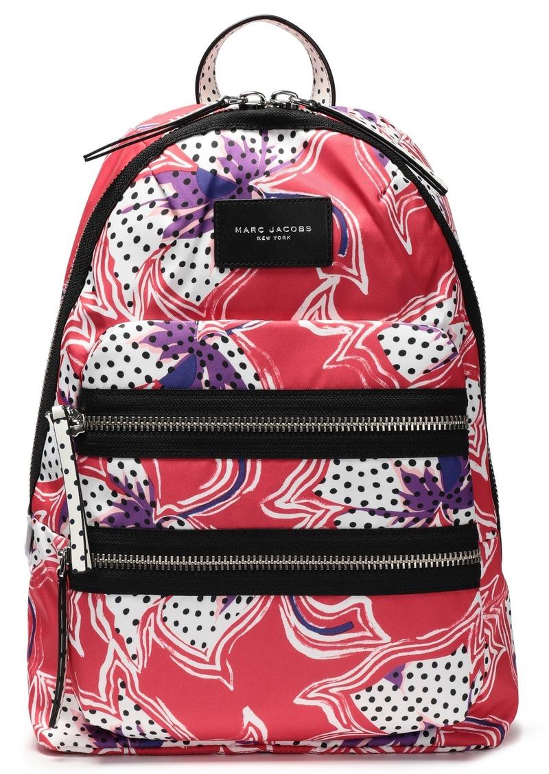 Marc Jacobs Woman Biker Floral-print Shell Backpack Papaya