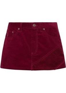 Marc Jacobs Woman Cotton-corduroy Mini Skirt Burgundy