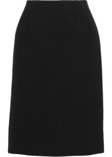 Marc Jacobs Woman Cotton Wool And Silk-blend Cloqué Skirt Black