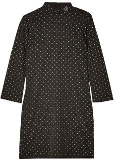 Marc Jacobs Woman Crystal-embellished Fil Coupé Crepe Mini Dress Black