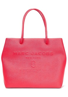 Marc Jacobs Woman East/west Embossed Textured-leather Tote Red