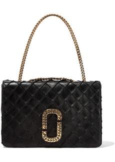 Marc Jacobs Woman Embellished Quilted Leather Shoulder Bag Black