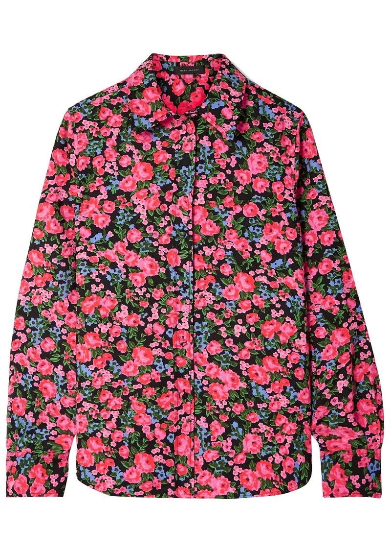 Marc Jacobs Woman Floral-print Crepe Shirt Pink