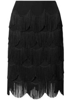 Marc Jacobs Woman Fringed Crepe Skirt Black