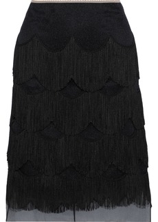 Marc Jacobs Woman Fringed Organza Skirt Black