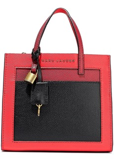 Marc Jacobs Woman Grind Mini Color-block Pebbled-leather Tote Red