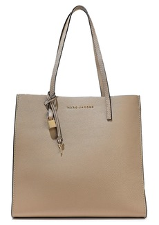 Marc Jacobs Woman Grind Pebbled-leather Tote Neutral