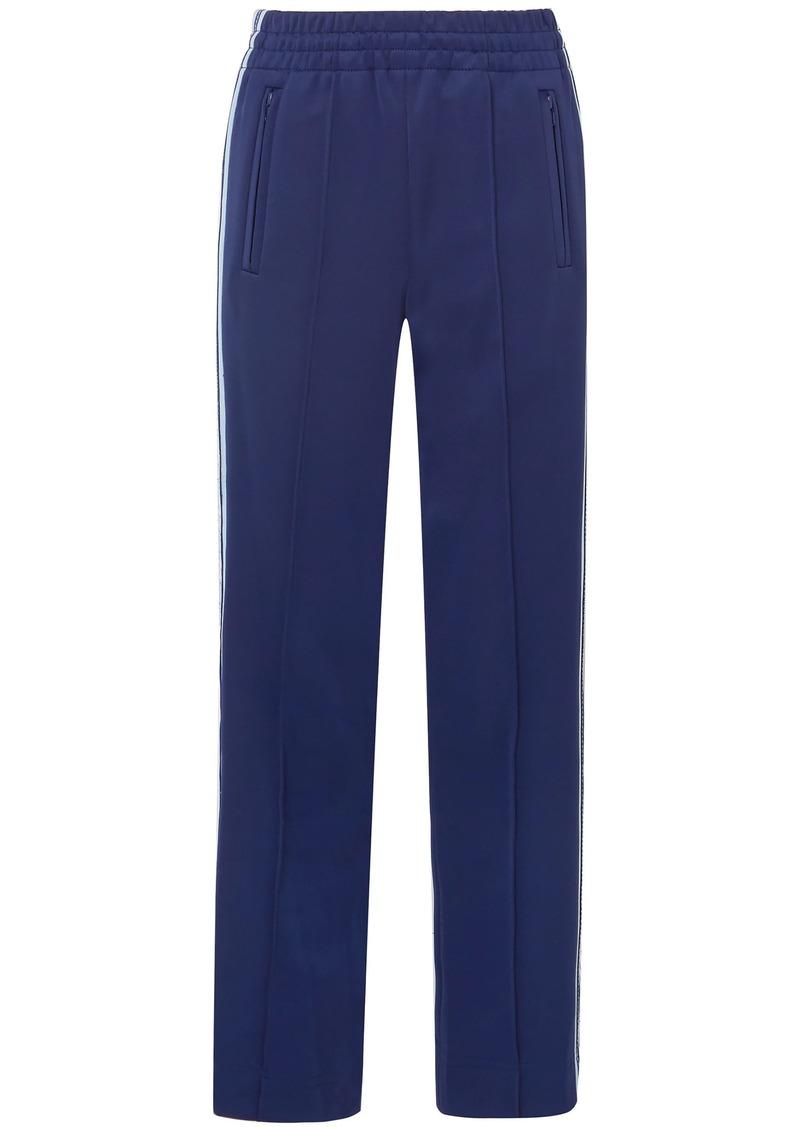 Marc Jacobs Woman Jacquard-trimmed Ponte Straight-leg Pants Navy
