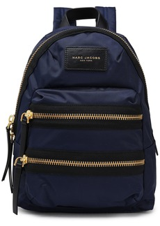 Marc Jacobs Woman Leather-trimmed Shell Backpack Navy