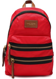 Marc Jacobs Woman Leather-trimmed Shell Backpack Red