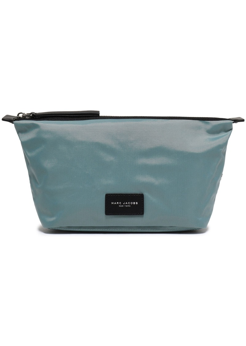 Marc Jacobs Woman Leather-trimmed Shell Cosmetics Case Sky Blue