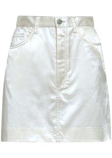 Marc Jacobs Woman Appliquéd Cotton-blend Satin Mini Skirt White