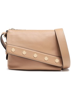 Marc Jacobs Woman Mini Downtown Studded Leather Shoulder Bag Sand