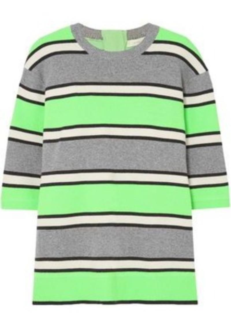 5609a1ec6c95 Marc Jacobs Marc Jacobs Woman Neon Striped Cashmere Top Lime Green ...